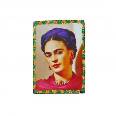 Magnet Frida au foulard violet