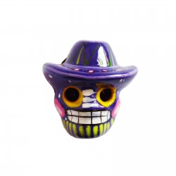 Magnet Crâne au sombrero Violet