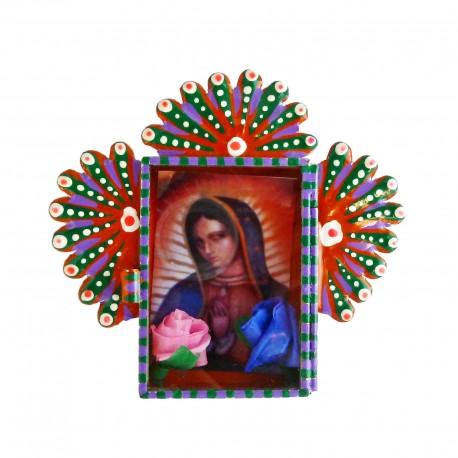 Mini niche Vierge de Guadalupe Orange
