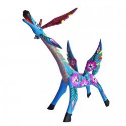 Alebrije Girafe bleue