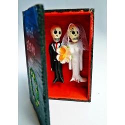 Boîte cercueil Amor eterno - Mariés mexicains, amour éternel - Casa Frida