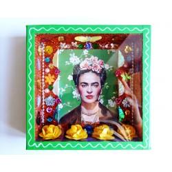 Niche carrée Frida Kahlo - Vert
