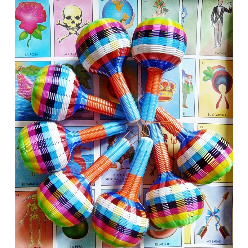 woven rattle large mexican colorful wires maracas casa frida
