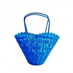 Petit panier rétro bleu - Sac à goûter pour fille - Casa Frida