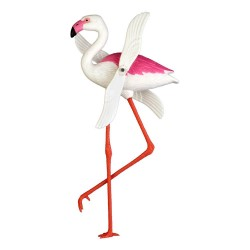 Flamingo windmill - Kitsch pinwheel for bacony and garden - Casa Frida