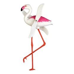Rehilete de flamingo - Reguilete kitsch para balcón y jardín - Casa Frida