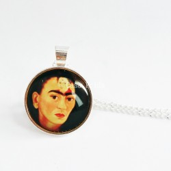 "Necklace Frida Kahlo ""The two Fridas"""