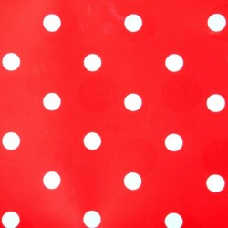 Self adhesive foil red with polka dots