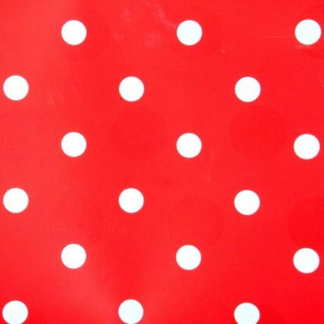Adhesivo decorativo rojo con puntos