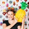 Ananas en papier Jaune