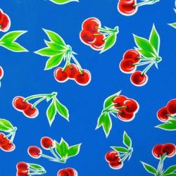 Hule Cerezas Azul