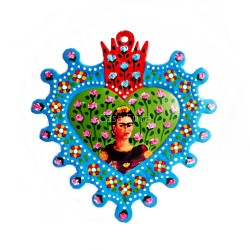Frida Kahlo sacred heart blue