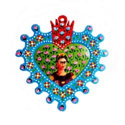 Coeur sacré Frida Kahlo bleu