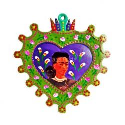 Coeur sacré Frida Kahlo vert