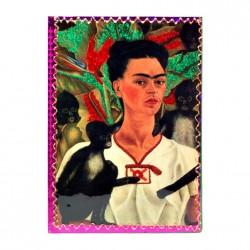 Libreta Frida Kahlo Autorretrato con monos