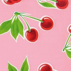 Pink Cerezas oilcloth