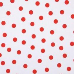Red Polka dots oilcloth