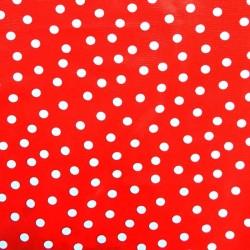 White Polka dots oilcloth