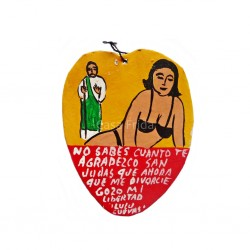 Ex-voto Happy divorced lady