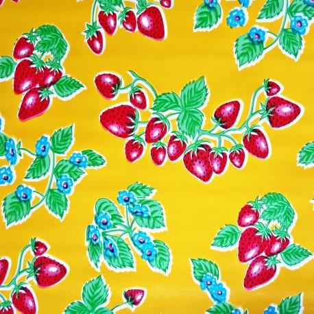 Yellow Fresas oilcloth