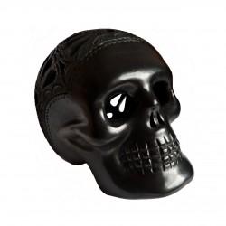 Large Barro Negro skull - Mexican black clay skull - Casa Frida