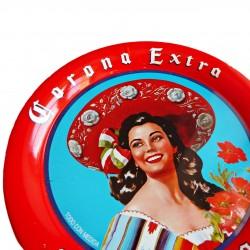 Sous-verre bière Corona Extra avec pin-up mexicaine rétro
