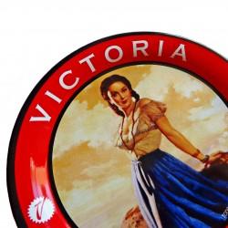 Sous verre vintage bière Victoria avec pin up latine rétro