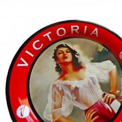 Sous-verre vintage bière Victoria avec pin-up rétro sexy