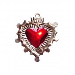 Mexican tin sacred heart