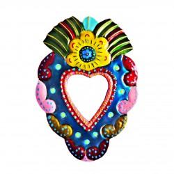Sagrado corazón con espejo Flor amarillo