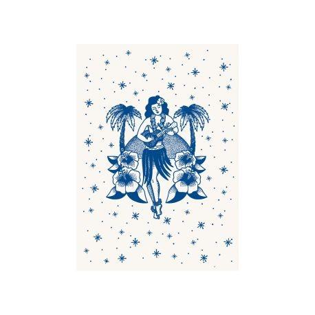 Poster tattoo Hula girl