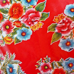 Red Ramilletes oilcloth