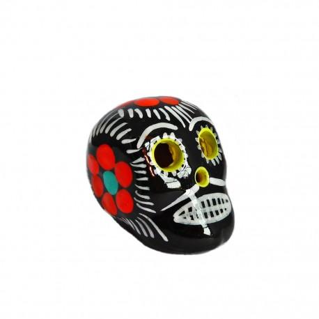 Petit crâne mexicain Noir