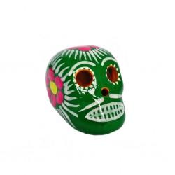 Cráneo mexicano pequeño Verde
