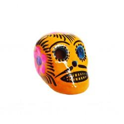 Cráneo mexicano pequeño Amarillo