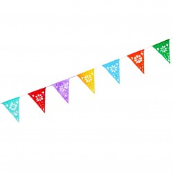 Large bunting with triangular pennants