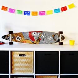 Mini guirlande en papier Fruta - Déco mexicaine, papel picado - Casa Frida