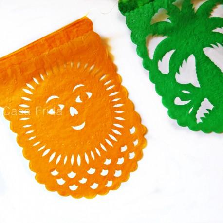Paper banner Verano - Mexican papel picado - Party decor - Casa Frida