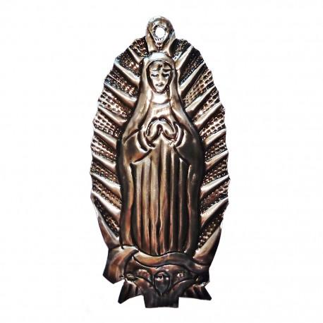 Vierge de Guadalupe en étain - Décoration mexicaine - Casa Frida