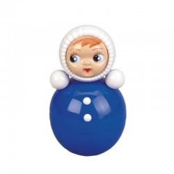 Poupée culbuto - Bleu - Jouet rétro pour bébé - Casa Frida