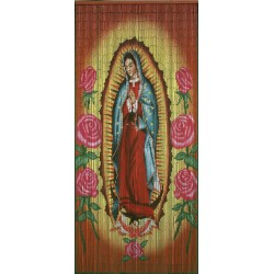 Rideau de porte Vierge de Guadalupe