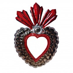 3 flames Sacred heart mirror
