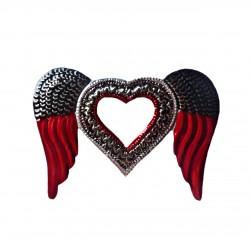 Sagrado corazón con espejo Alas de ángel