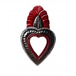 Sagrado corazón con hoja y espejo - Casa Frida