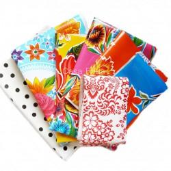 Lot de 7 coupons de toile cirée - Toile enduite couture - Casa Frida