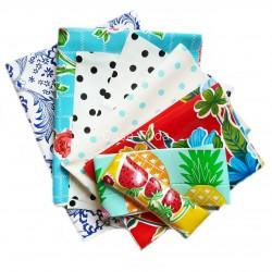 Lot de 8 coupons de toile cirée - Toile enduite couture - Casa Frida