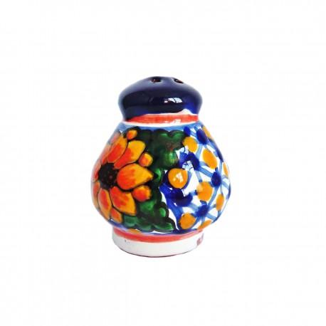 Salt shaker with Sunflower - Talavera de Puebla ceramic - Casa Frida