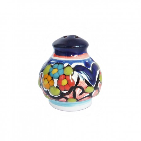 Salt shaker with flowers
