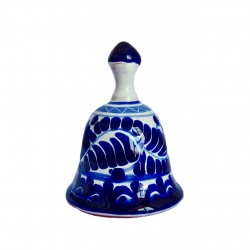 Blue Talavera de Puebla bell - Mexican collectible item - Casa Frida