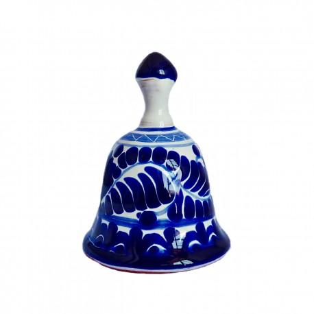 Campana de Talavera de Puebla azul - Pieza de colección mexicana - Casa Frida